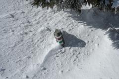 výška sněhu